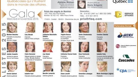 Appel de candidatures du 16e concours Prix Femmes d'affaires du Québec