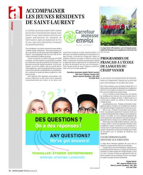 Accompagner les jeunes résidents de Saint-Laurent