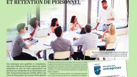 Francisation, productivité et rétention de personnel